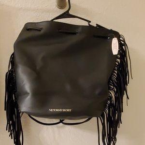 VS Fringe Faux Leather Bag